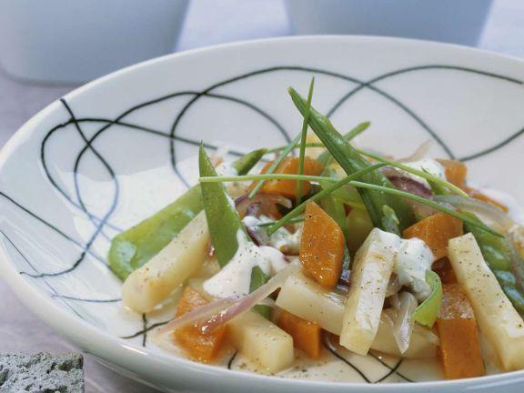 Sellerie-Kürbis-Gemüse