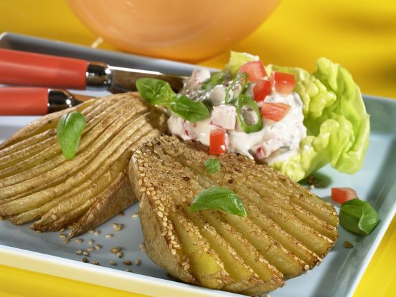 Sesam-Fächerkartoffeln