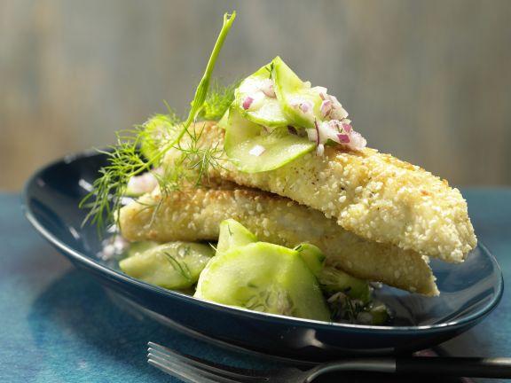 Sesam-Fischstäbchen – smarter