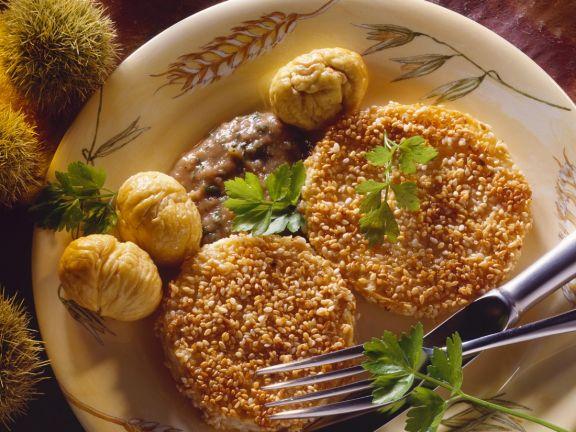Sesam-Sellerieschnitzel