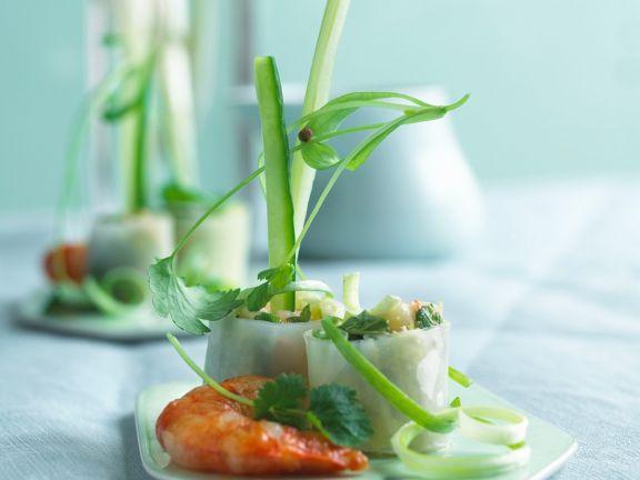 Shrimp-Frühlingsrollen