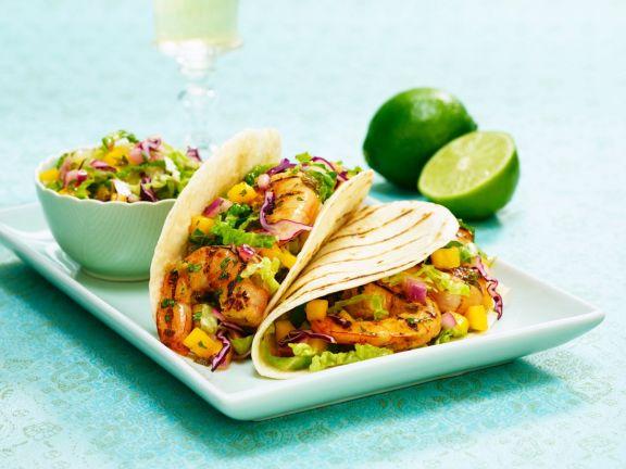 Shrimp-Tacos mit Salsa