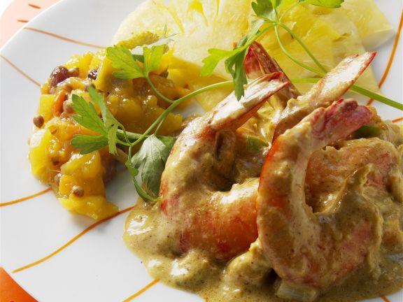 Shrimps-Ananas-Curry