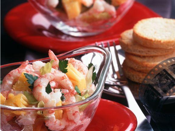 Shrimps-Ananas-Salat