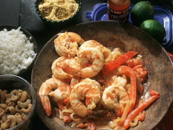 Shrimps auf brasilianische Art