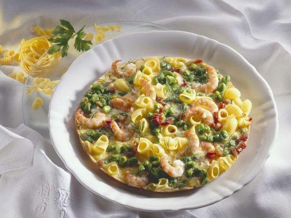 Shrimps-Gemüseomelett
