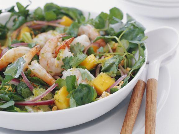 Shrimps-Mango-Salat mit Koriander