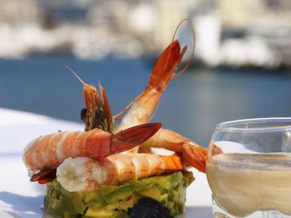 Shrimps mit Avocado