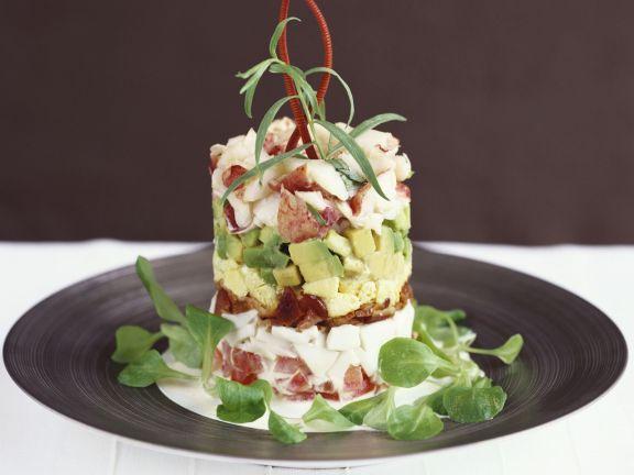 Shrimpssalat mit Avocado