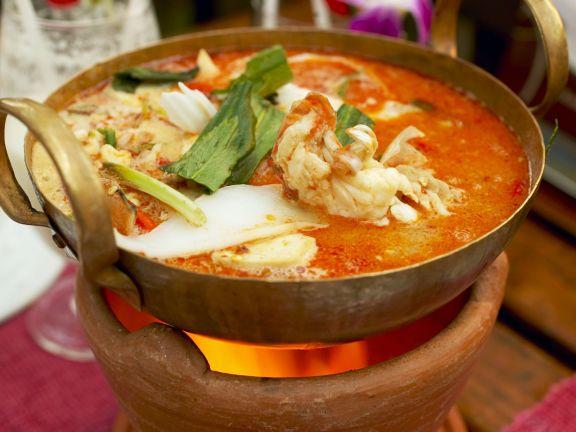 Shrimpssuppe auf thailändische Art