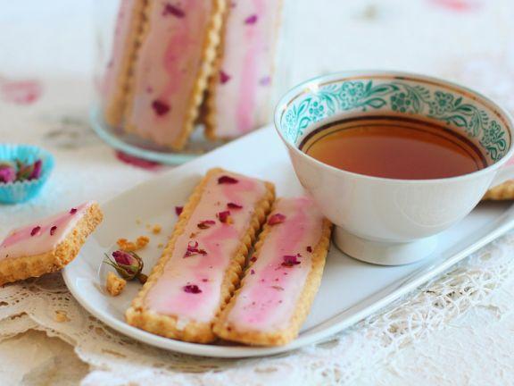 Shrotbread mit Rüsenblüten