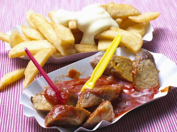Soja Currywurst Mit Pommes Rezept Eat Smarter