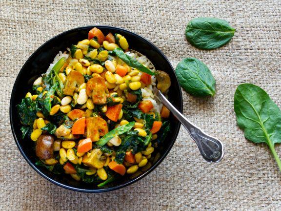 Soja-Gemüse-Curry