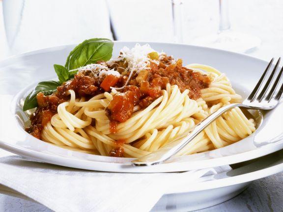 Spaghetti mit Bolognese