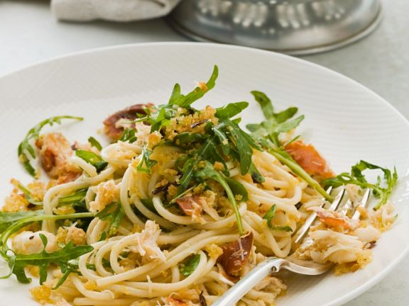 Spaghetti mit Flusskrebsen