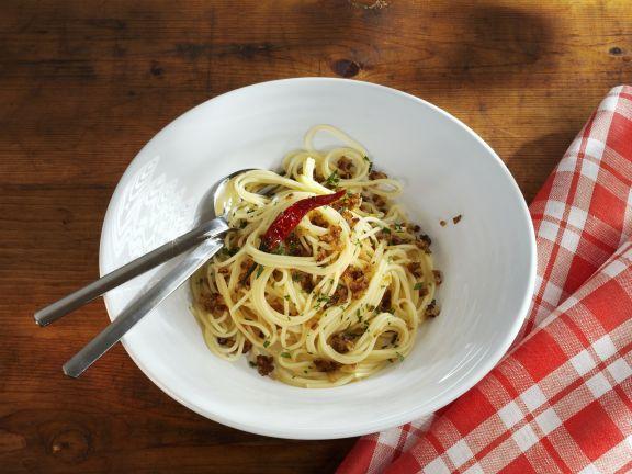 Spaghetti mit Knoblauch und Chili