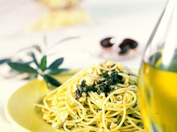 Spaghetti mit Tapenade