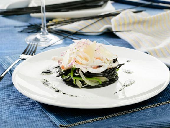 Spaghetti mit Tintenfisch