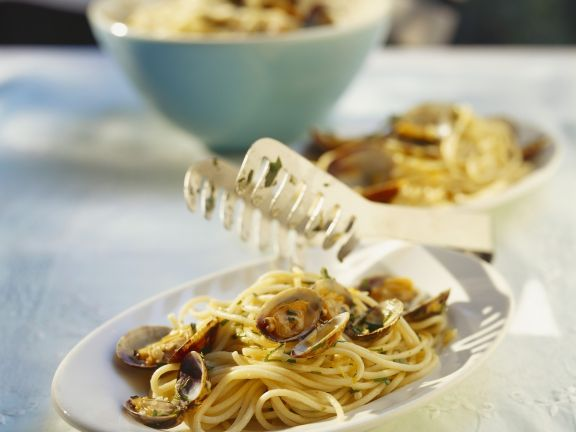Spaghetti mit Venusmuscheln