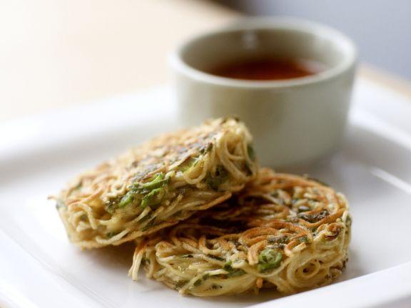Spaghettiküchlein mit Lauchzwiebeln