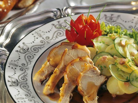 Spanferkel mit Salat