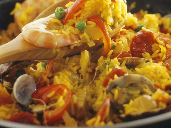 Spanische Reispfanne (Paella)