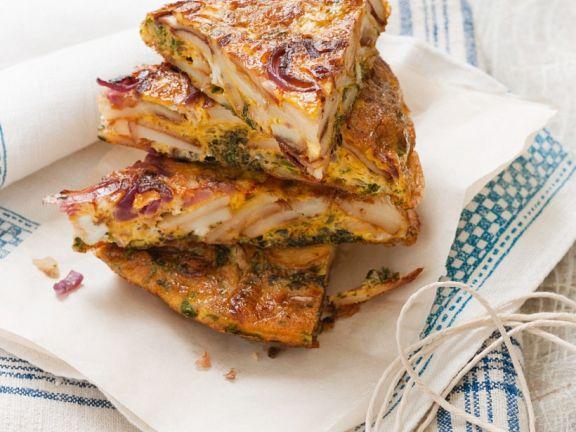 Spanische Tortilla mit Sardellen