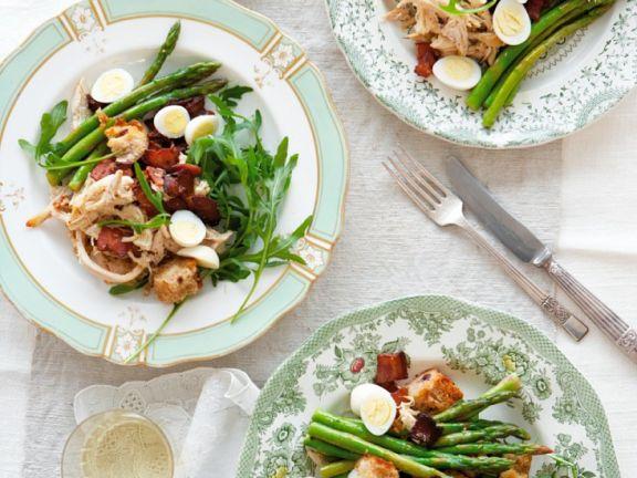 Spargel-Hähnchensalat