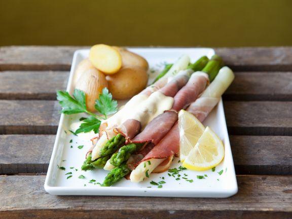 Spargel Mit Schinken Und Sauce Hollandaise Rezept Eat Smarter