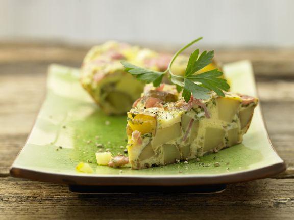 Spargel-Schinken-Omelett