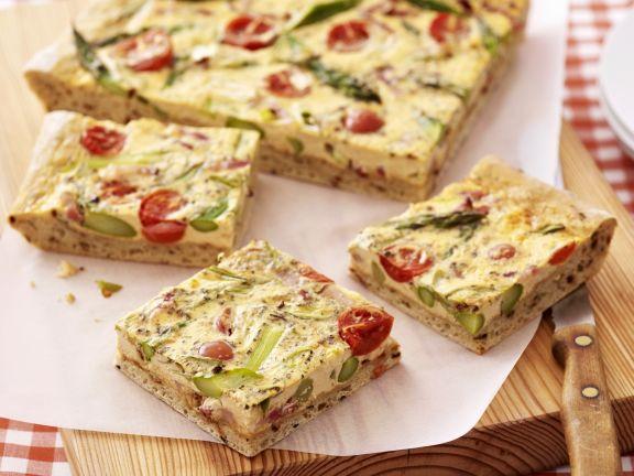 Spargel-Tomaten-Kuchen