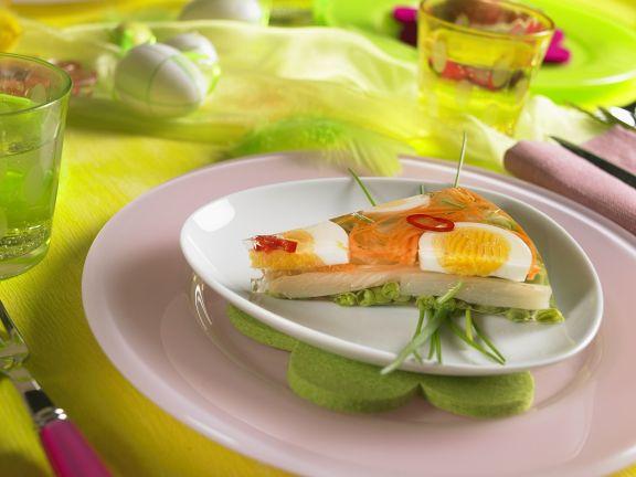 Spargelsülze mit Ei