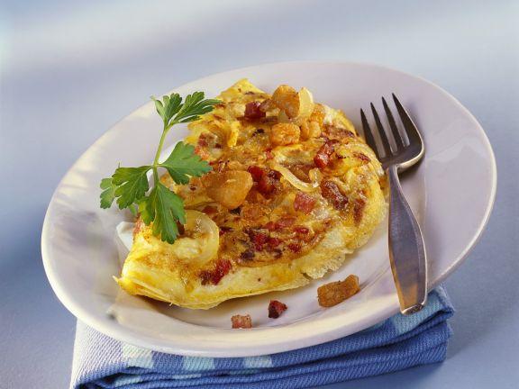 Speck-Zwiebel-Omelette