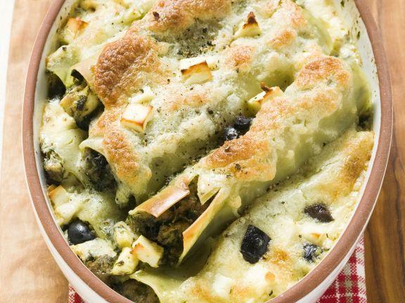 Spinat-Feta-Cannelloni