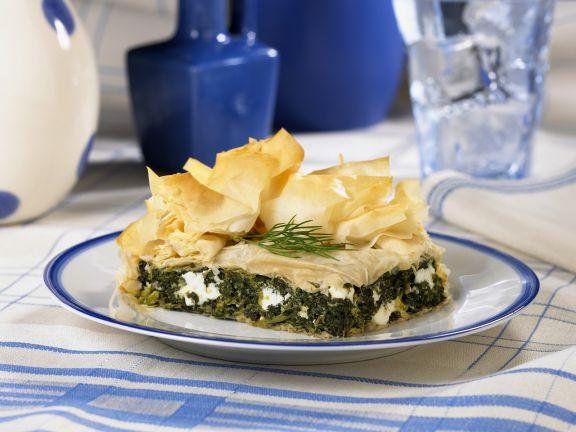 Spinat-Feta-Pastete auf griechische Art