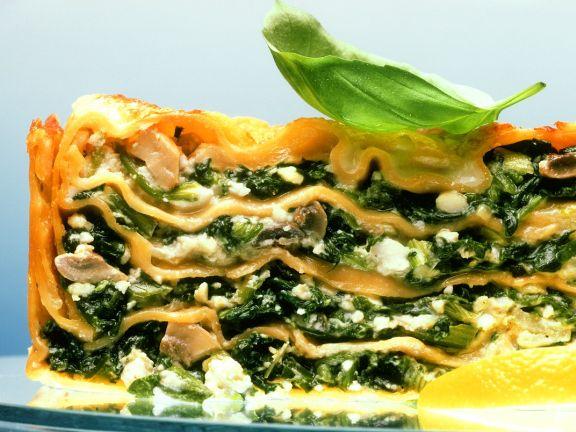 Spinat-Käse-Lasagne