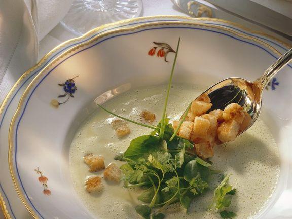Spinat-Kräutercremesuppe
