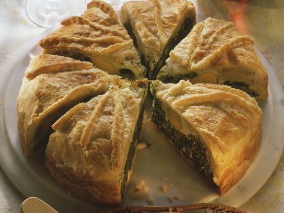 Spinat-Pastete mit Ricotta und Ei