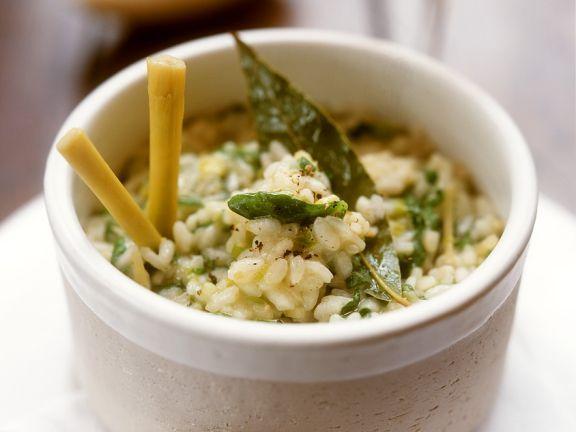 Spinat-Risotto mit Zitronengras