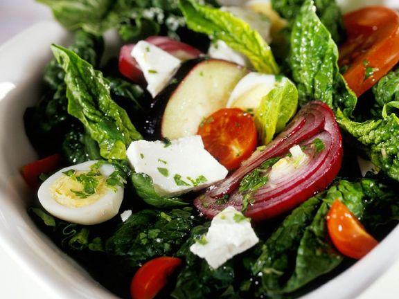 Spinatsalat mit Feta