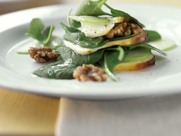 Spinatsalat mit Provolone