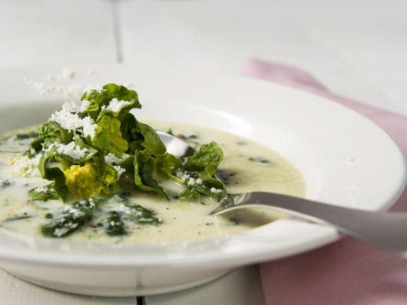 Spinatsuppe mit Parmesan