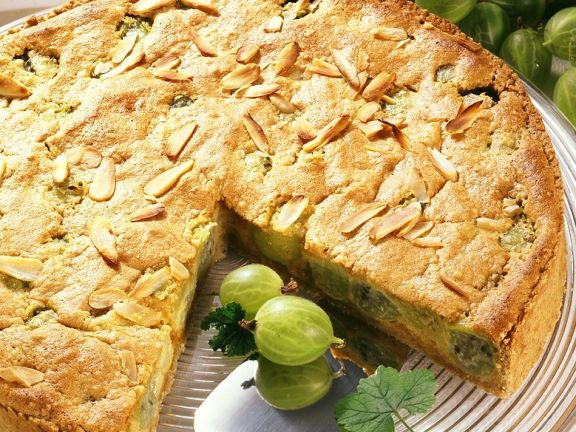 Stachelbeer-Mandelkuchen