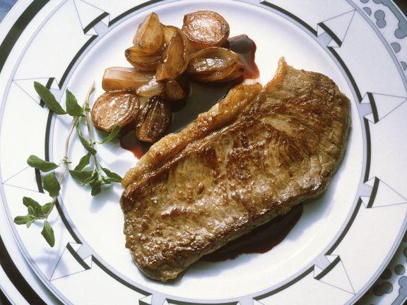 Steak mit Schalottensauce