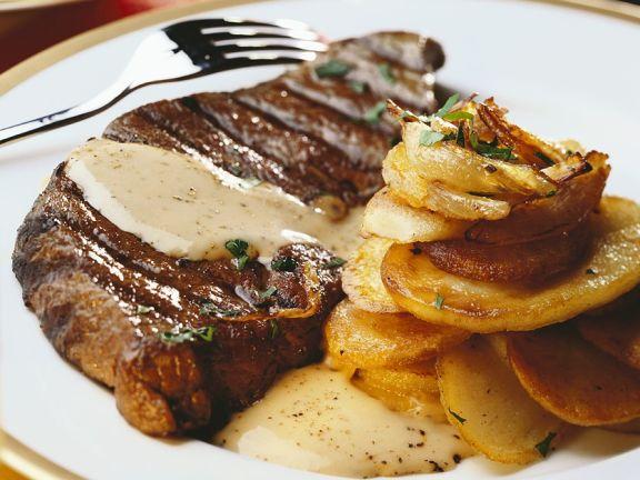Steak mit Senfsauce