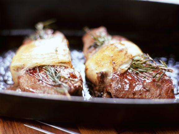 Steaks mit Käse