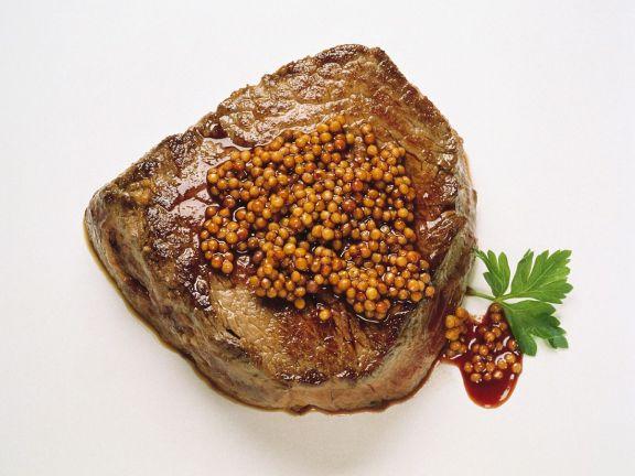 Steaks mit Senfsauce