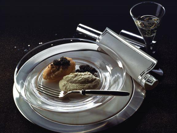 Stör- und Lachsmousse mit Kaviar