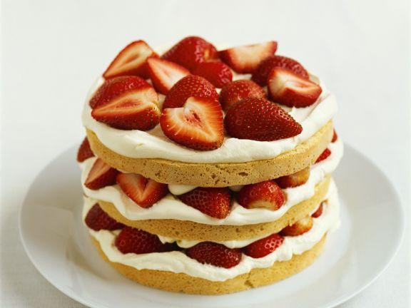 Strawberry Shortcake mit Sahne