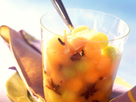 süß-sauer eingelegte Melone